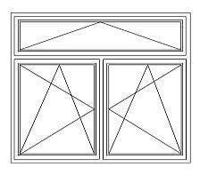 20 = Zweiflügeliges Fenster mit Kippoberlicht