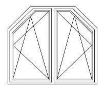 29 = Zweiflügelige DK – Fenster mit Schrägen