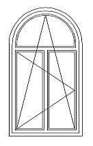 31 = Rundbogenfenster mit Sprossen