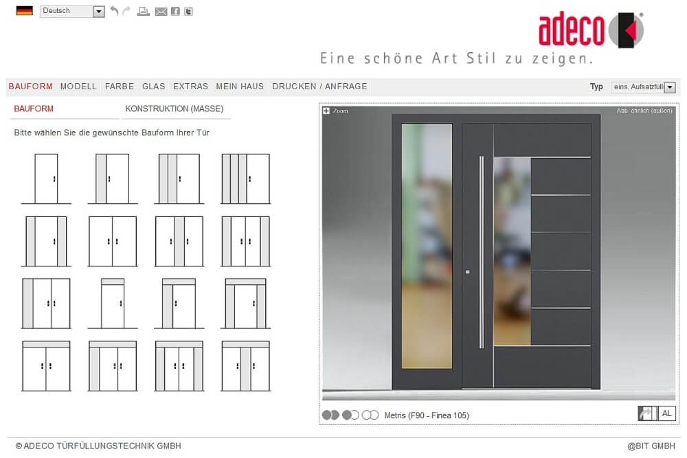 Adeco Haustürkonfigurator
