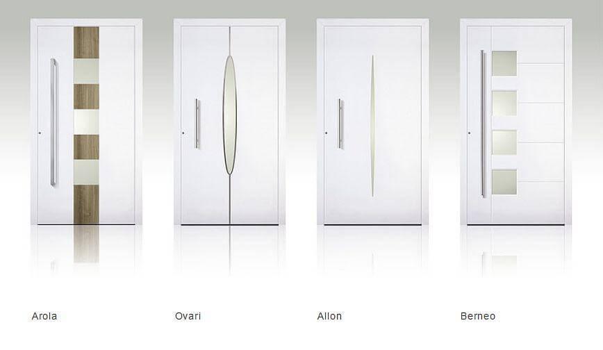 Haustüren alu weiß  Adeco - CENTEA Aluminium Haustüren › Schreinerartikel