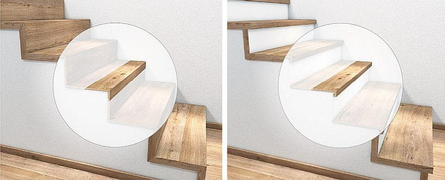 Stufenkantenprofil 1x oder 2x eingeschlagen