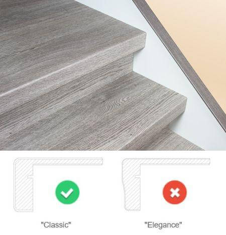 Treppenstufen Vinyl-Eiche-Grau